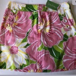 Lilly Pulitzer SZ 8 Green Havana Good Time Skirt